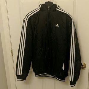 Heavy duty Adidas black rain jacket